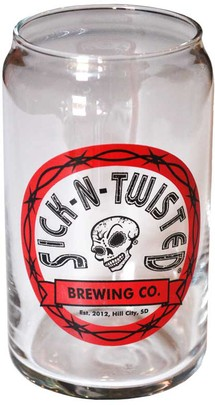 S-N-T Beer Can Glass